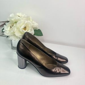 Stuart Weitzman Metallic Mirrored heeled pumps